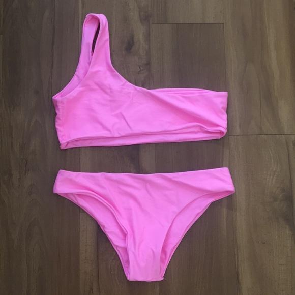 25c331c491a5a Zaful Swim | Bubblegum Pink One Shoulder Bikini | Poshmark